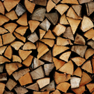 Stack of Firewood Close Up Picture